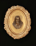 jesus bronze oval